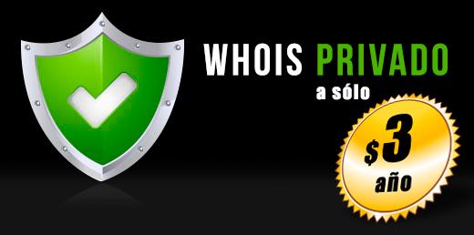 Protección de Datos (Whois privado) deja de ser Gratis