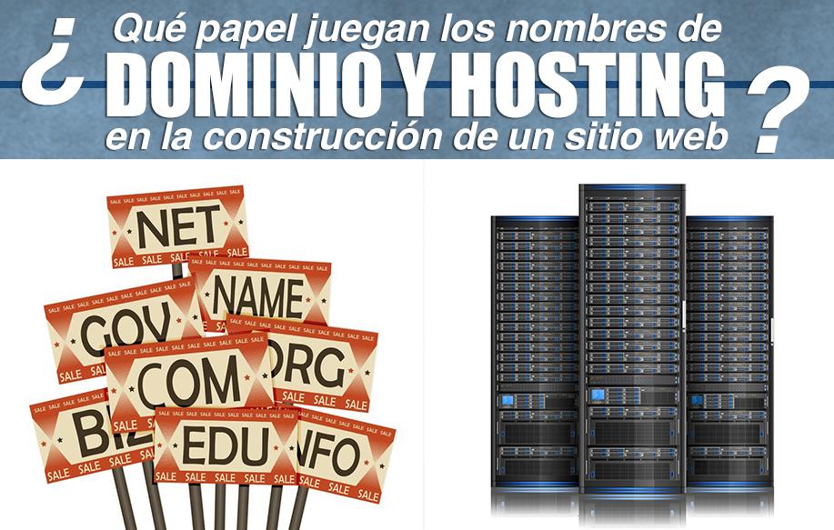 Qué papel juegan los nombres de dominio y hosting en la construcción de un sitio web