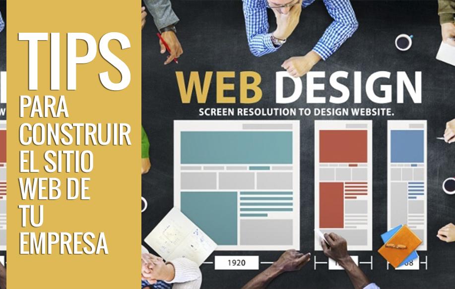 tips para construir el Sitio Web de tu Empresa