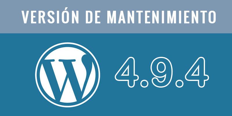 Nueva versión WordPress
