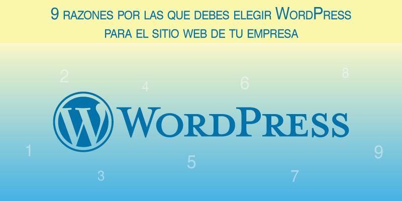 9 razones por las que debes elegir WordPress para el sitio web de tu empresa