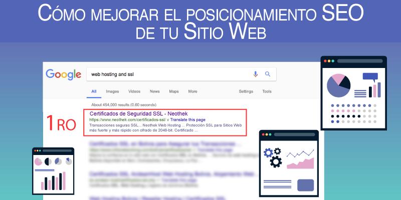 Cómo mejorar el posicionamiento SEO de tu Sitio Web
