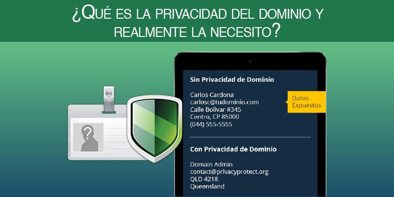 ¿Qué es la privacidad del dominio y realmente la necesito?